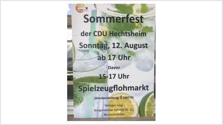 CDU Sommerfest am 12.08 im Weingut Jung